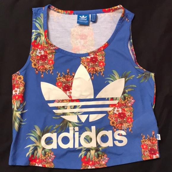 70a2b6e8c15 adidas Tops | Pineapple Crop Top | Poshmark